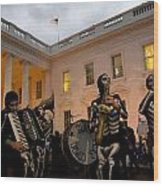 Halloween At The White House Wood Print