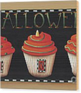 Halloween Cupcakes Wood Print