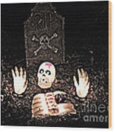 Halloween Spooks Wood Print