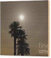Halo With Moon Light Wood Print