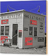 Hamburger Stand Coca-cola Signs Russell Lee Photo Farm Security Administration Dumas Texas 1939-2014 Wood Print