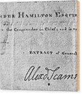 Hamilton: Appointment, 1777 Wood Print