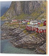 Hamnoy Rorbu Village Wood Print