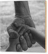Hands Wood Print