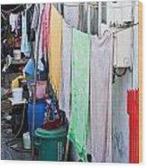 Hanging Towels Wood Print