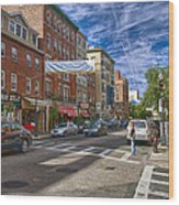 Hanover St. Wood Print