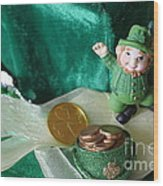 Happy St. Patricks Day Wood Print