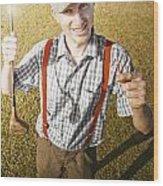 Happy The Golf Man Wood Print