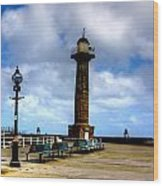 Harbour Light Whitby Wood Print