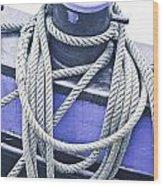 Harbour Rope Wood Print