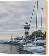 Harbourtown Harbor Wood Print