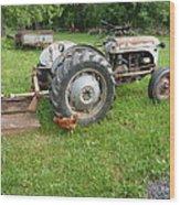 Hard Days Work Farm Tractor Wood Print