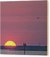 Harkers Island Sunset Wood Print