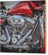 Harley Davidson Motorcycle Harley Bike Bw  Wood Print