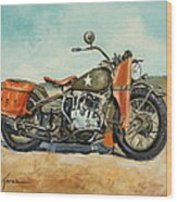 Harley Davidson Wla 1942 Wood Print