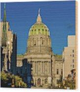 Harrisburg, Pennsylvania, City Skyline Wood Print