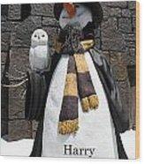 Harry Christmas Wood Print