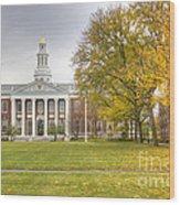 Harvard University Wood Print