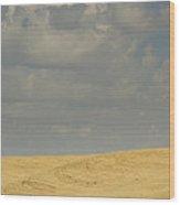 Harvesting Wheat Wood Print