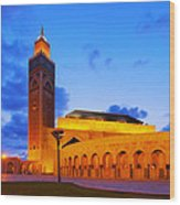 Hassan II Mosque In Casablanca Wood Print