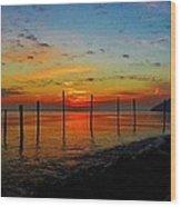 Haverstraw Bay Sunrise Wood Print