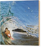 Makena Boogie Boarder Wood Print