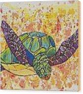 Hawaiian Sea Turtle  Wood Print