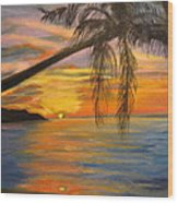 Hawaiian Sunset 11 Wood Print