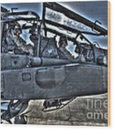 Hdr Image Of Pilots Equipped Wood Print