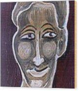 Head 5 Wood Print