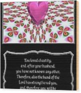 Heart And Love Design 16 With Bible Quote Wood Print
