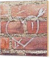 Heart Graffiti Wood Print by Tom Gowanlock