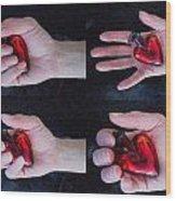 Heart In Hand Wood Print