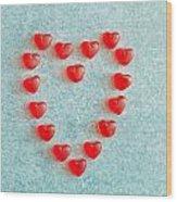 Heart Shape Wood Print by Tom Gowanlock
