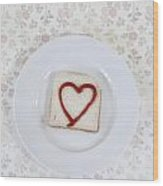 Hearty Toast Wood Print
