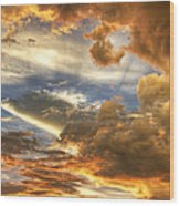 Heavenly Skies  Wood Print