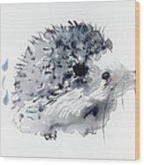 Hedgehog Wood Print by Krista Bros