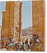 Hellenistic Gateway In Petra-jordan  Wood Print