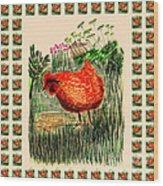 hen Wood Print
