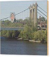 Hennepin Bridge Wood Print