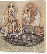 Hess'er Puppies Wood Print