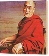 H.h. Dalai Lama Wood Print by Jan W Faul