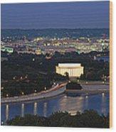 High Angle View Of A City, Washington Wood Print