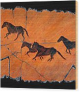 High Desert Horses Wood Print