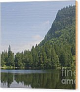 High Mountain Lake Wood Print