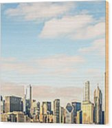 High Resolution Large Photo Of Chicago Skyline Wood Print