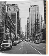 high rise apartment condo blocks in the west end west pender street Vancouver BC Canada Wood Print