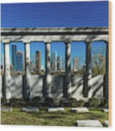 High Rise Buildings In Houston Wood Print