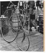 High Wheel 'penny-farthing' Bike Wood Print