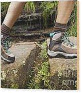 Hiking Boots Wood Print